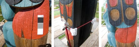 Repair of delamination and detached piece using epoxy and nylon straps