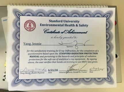 XRD certification